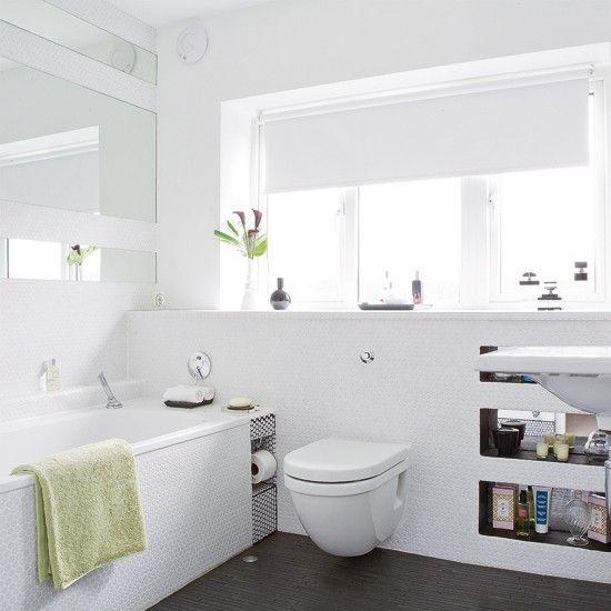 bathroom white tiles - aralsa