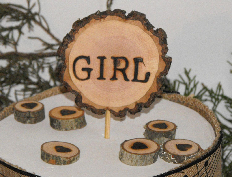 Baby girl shower cake topper girl caketopperrustic tree