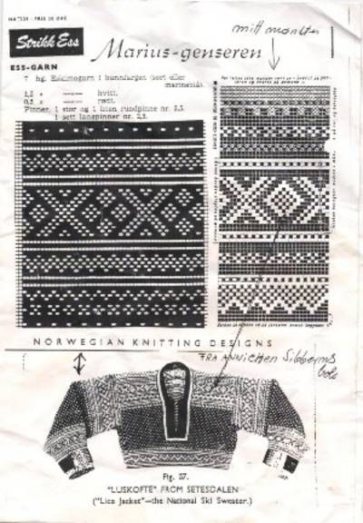 Many Hundred Years Old Setesdals Traditional Patterns From Siberns