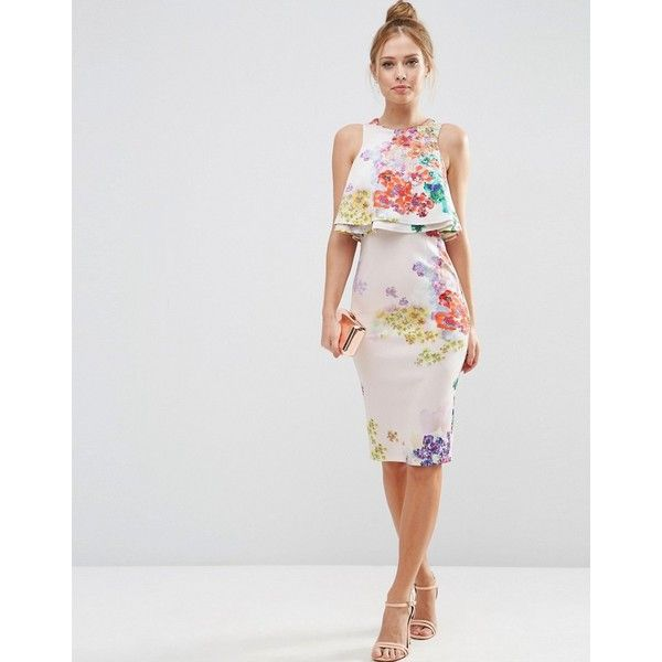Strapless Midi Dress with Orgami Frill - Cream Forever New Cheap Footlocker Free Shipping Limited Edition 2GLwzCZ6dQ
