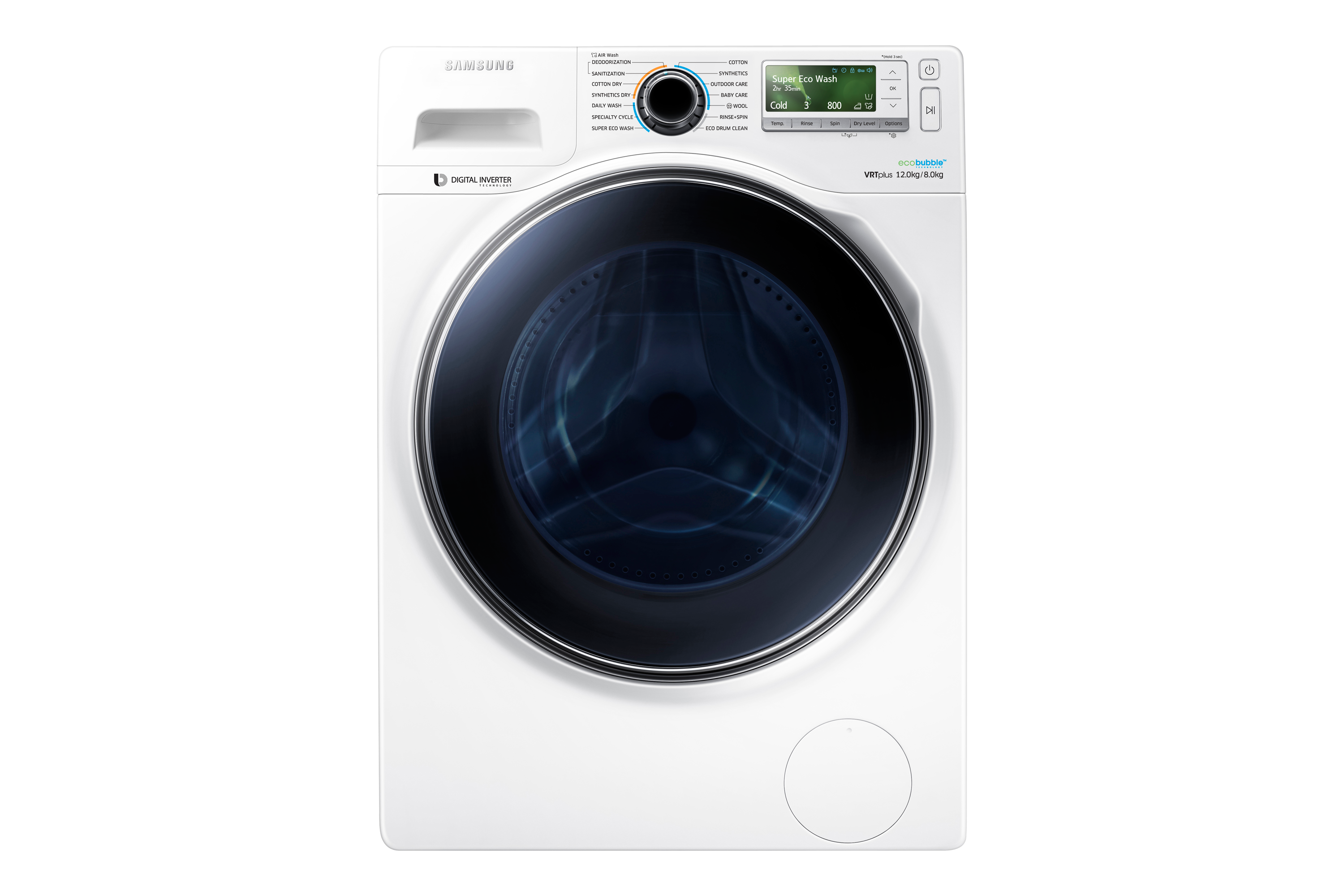 Samsung Wd8000 Washer Dryer With Ecobubble 12 Kg White