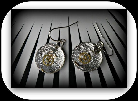 Steampunk earrings. LOVE.  Devilfish