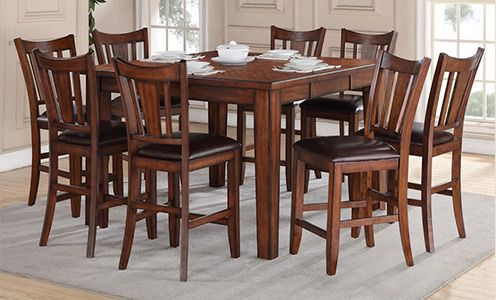 Regal Living Chandler 9Piece Counter Height Dining Set New 9 Pc Dining Room Sets Design Ideas