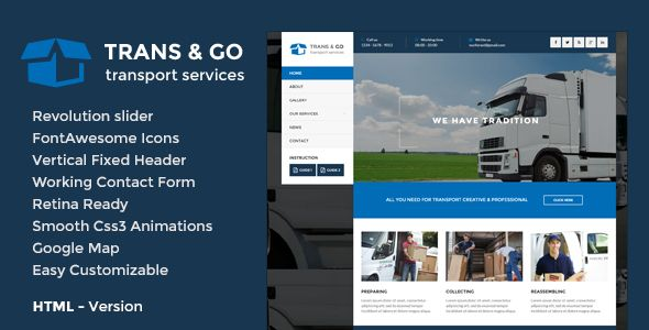 TransGo - Transport & Logistics HTML5 Template | Code Script