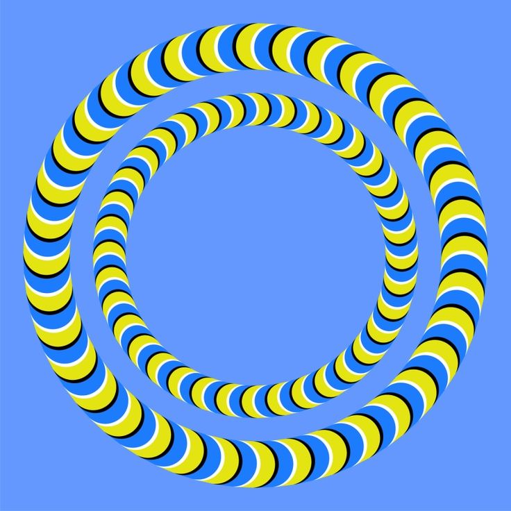 Illusions - moving circles - not really