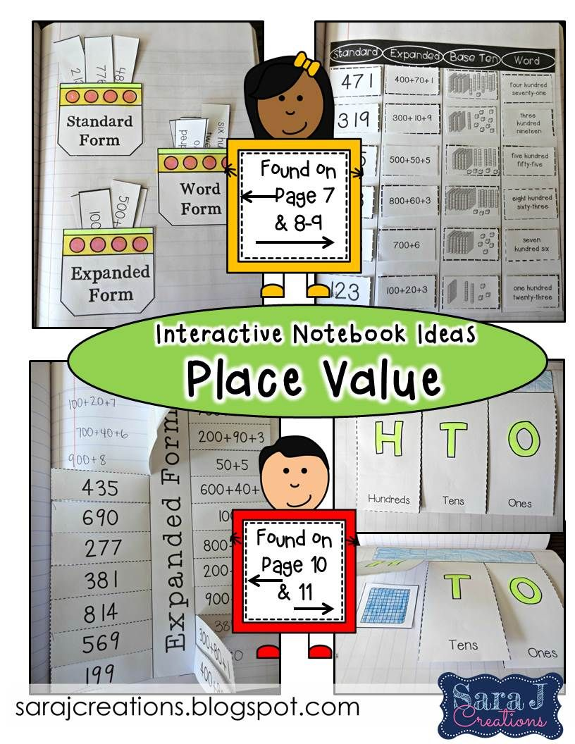 Interactive notebook place value expanded form base ten activities falaconquin