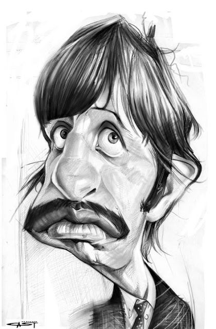 Ringo Starr por Sebastián Cast - Caricaturas de Famosos