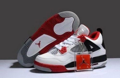 Hot Cheap Nike Jordan 4 Cheap sale Black Red Grey