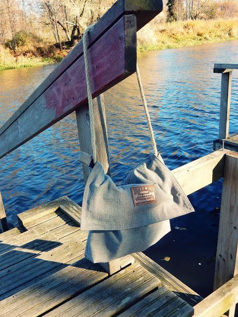 VillaNanna: Farkkulaukku vanhasta farkkuhameesta