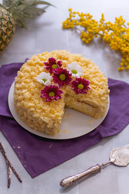 Torta mimosa all\u0027ananas scopri una versione ancora più fresca e golosa  della classica torta dell\u00278 marzo! [Mimosa cake with ananas]