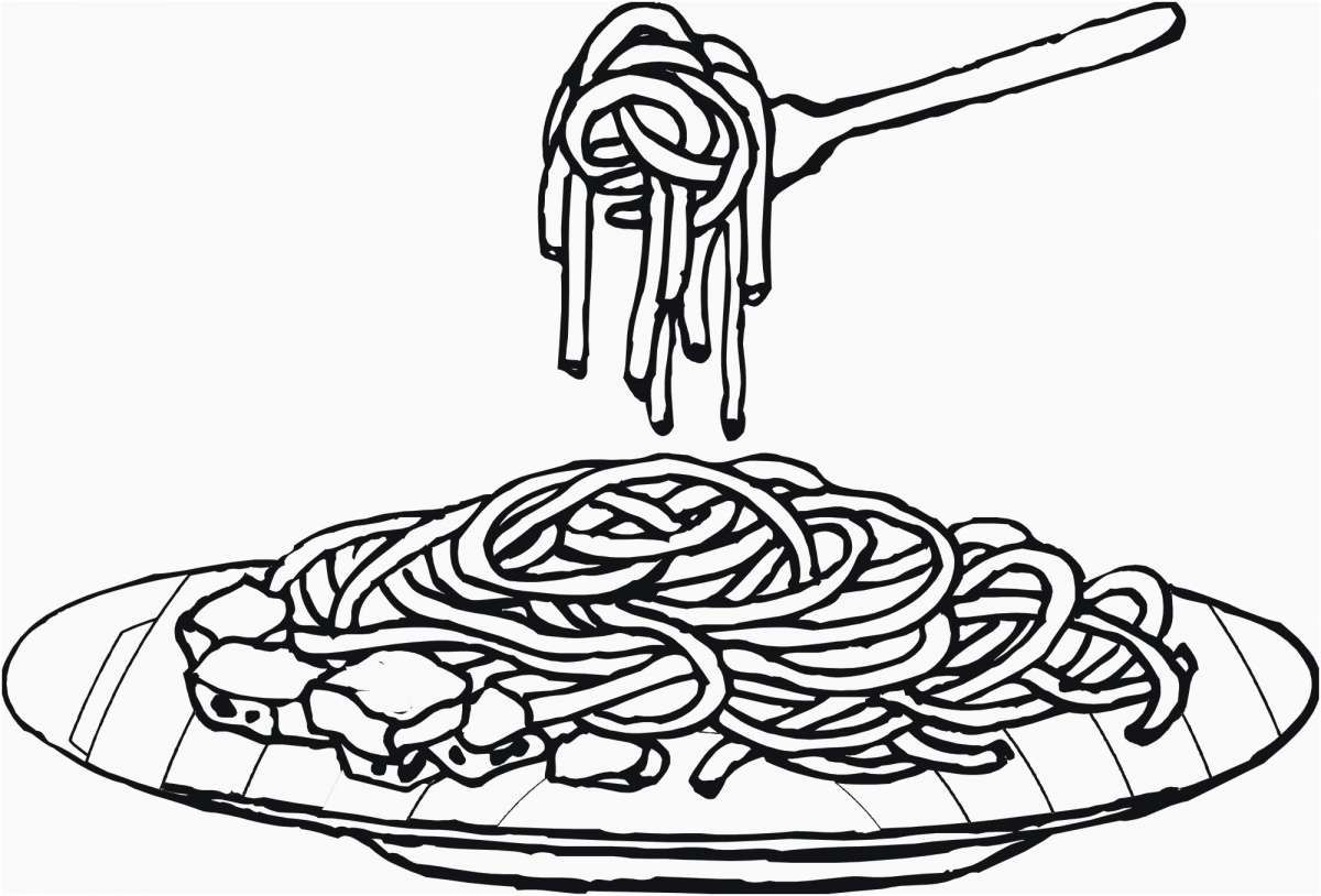 24++ Spaghetti and meatballs coloring page HD
