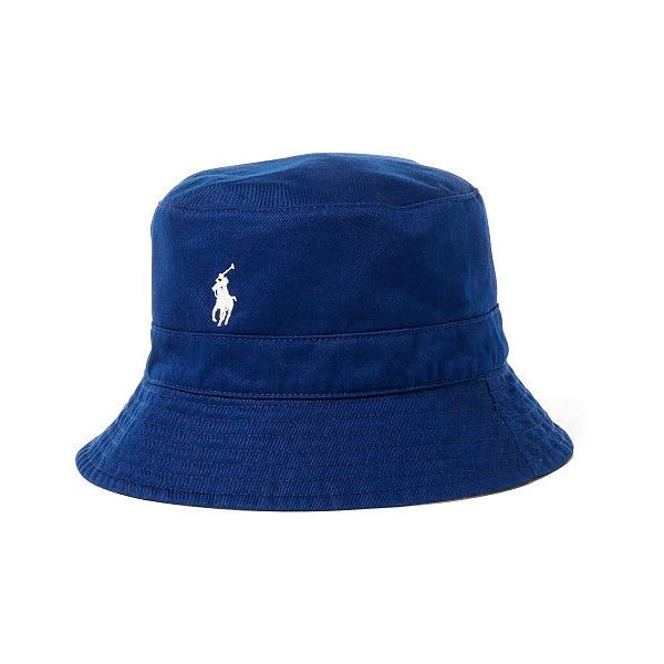 0f106eb6c5221 Polo Ralph Lauren Reversible Twill Bucket Hat ( 55) ❤ liked on Polyvore  featuring men s fashion