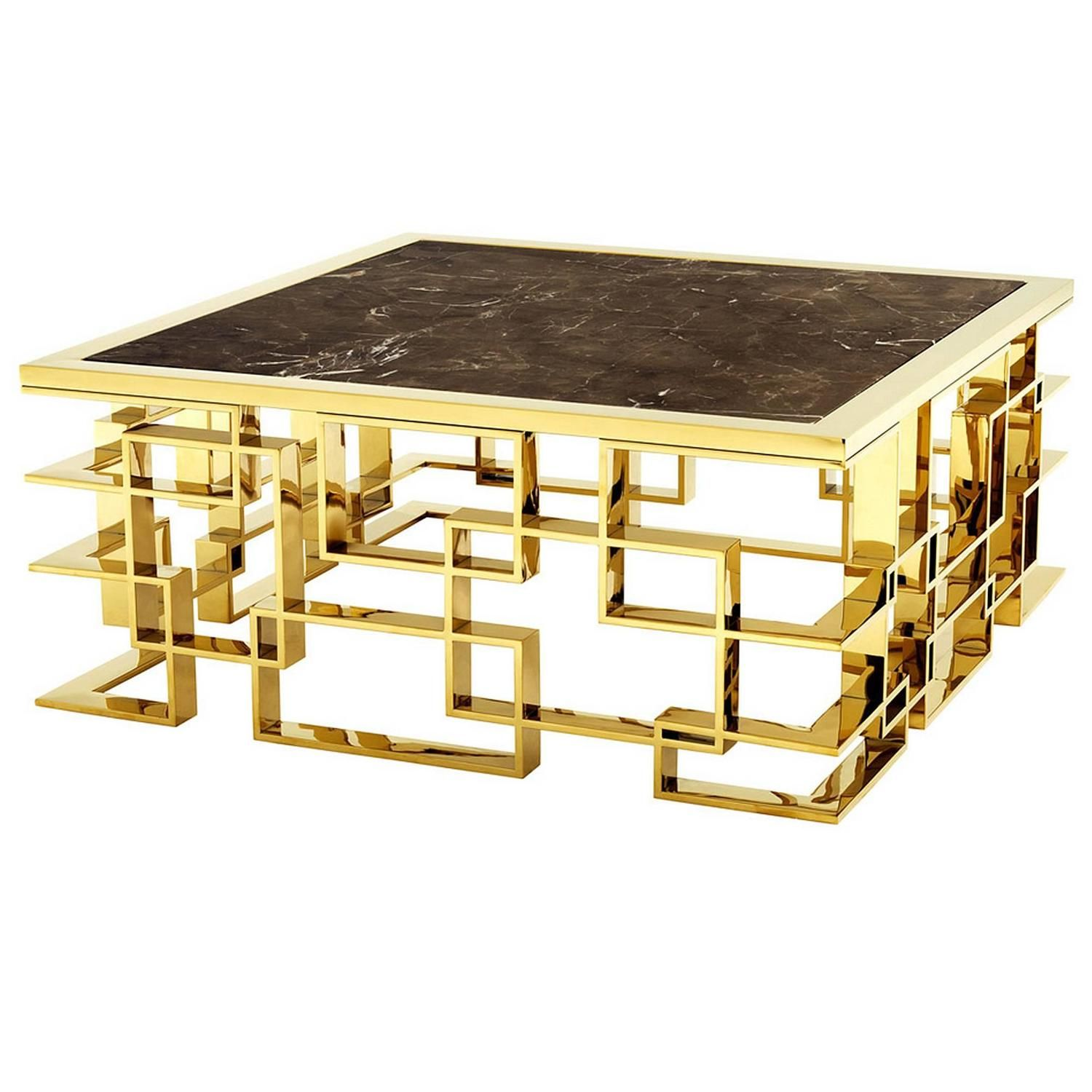 Gold metal coffee table Coffee table Pinterest