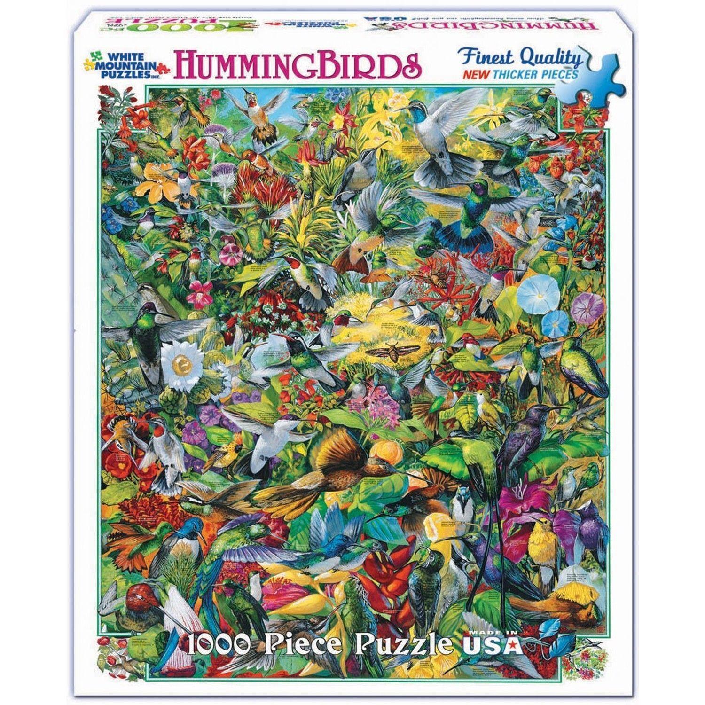 Popular Backyard Wild Birds Of N A Jigsaw Puzzle: White Mountain Puzzles Hummingbirds