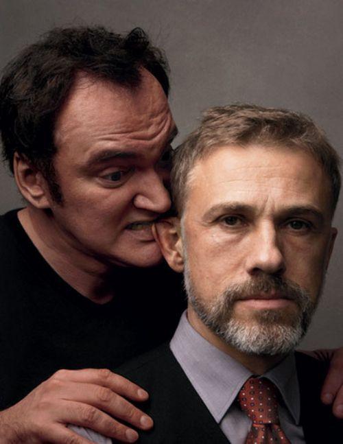 "Tarantino ""comiéndole la oreja"" a Christoph Waltz"