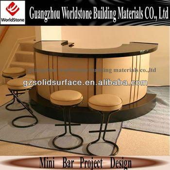 Curve Artificial Stone Coffee Mini Bar Counter Bar