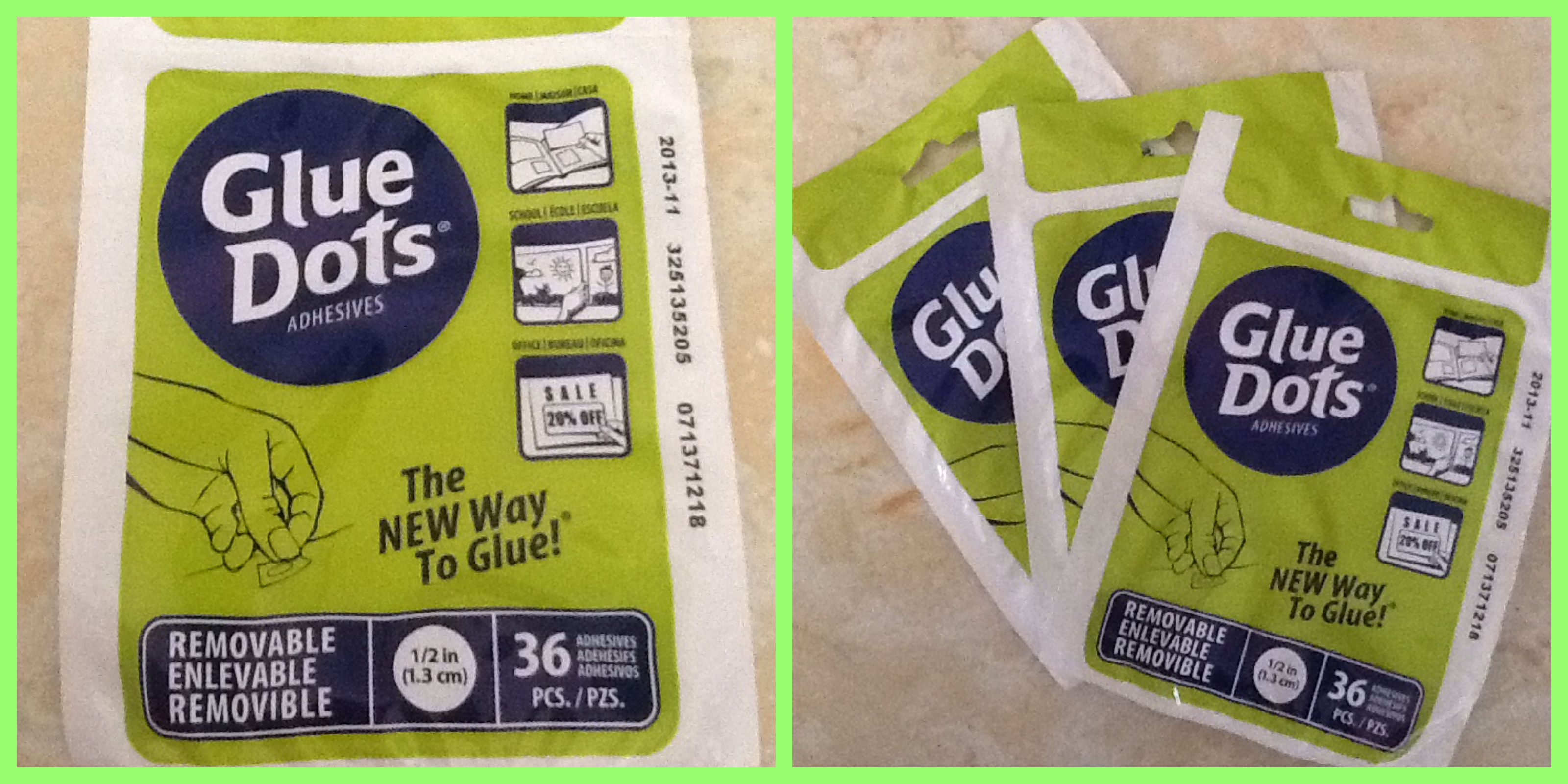 I got these Glue Dots at Dollar Tree for $1 each. Each pack comes ...