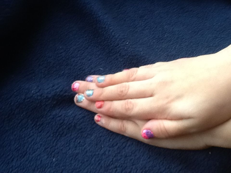 Sof's nails after spa day at home!
