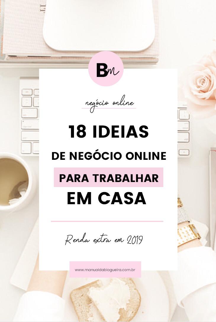 18 ideias de negócios online para trabalhar em cas...