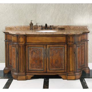 Photographic Gallery Natural Stone Top inch Single Sink Vintage Style Bathroom Vanity