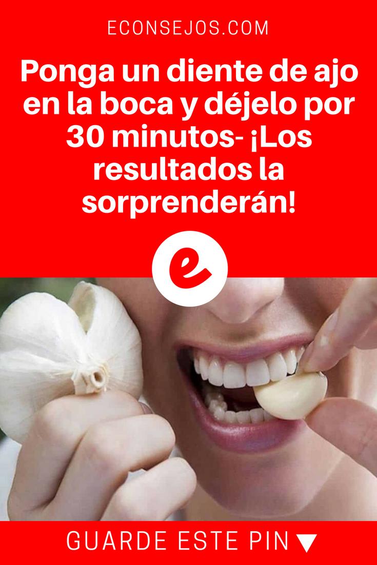 Masticar Un Diente De Ajo Durante 30 Minutos Diarios Puede Mejorar Tu Salud Natural Medicine Health Health Benefits
