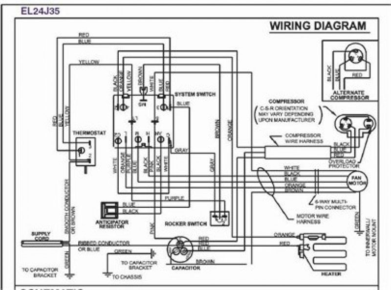 Goodman Air Handler Wiring Diagram The Wiring Diagram 4 Jpg 800 593 Thermostat Wiring Rv Air Conditioner Window Ac Unit