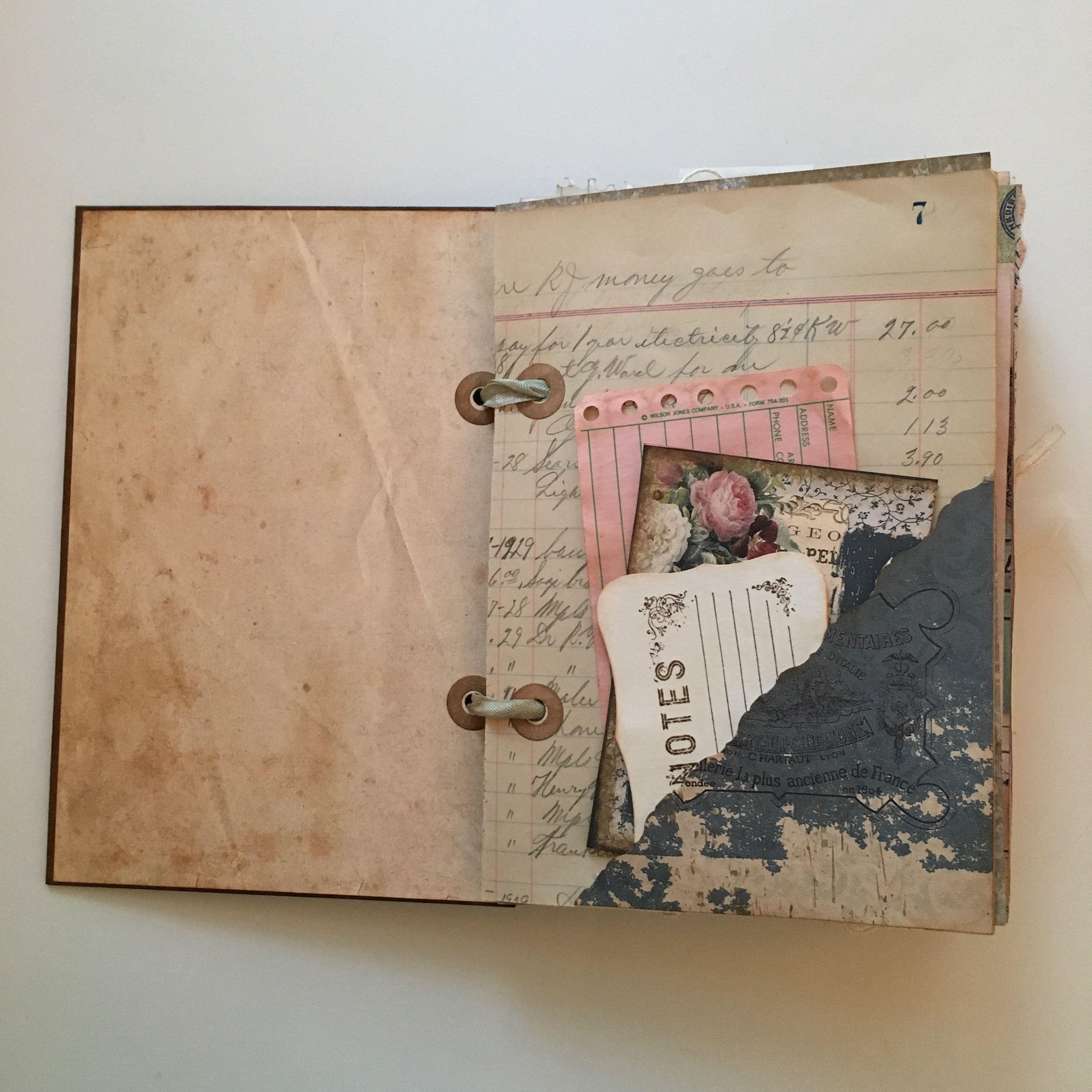 Vintage Journal Vintage Journal Book Journal Book Art
