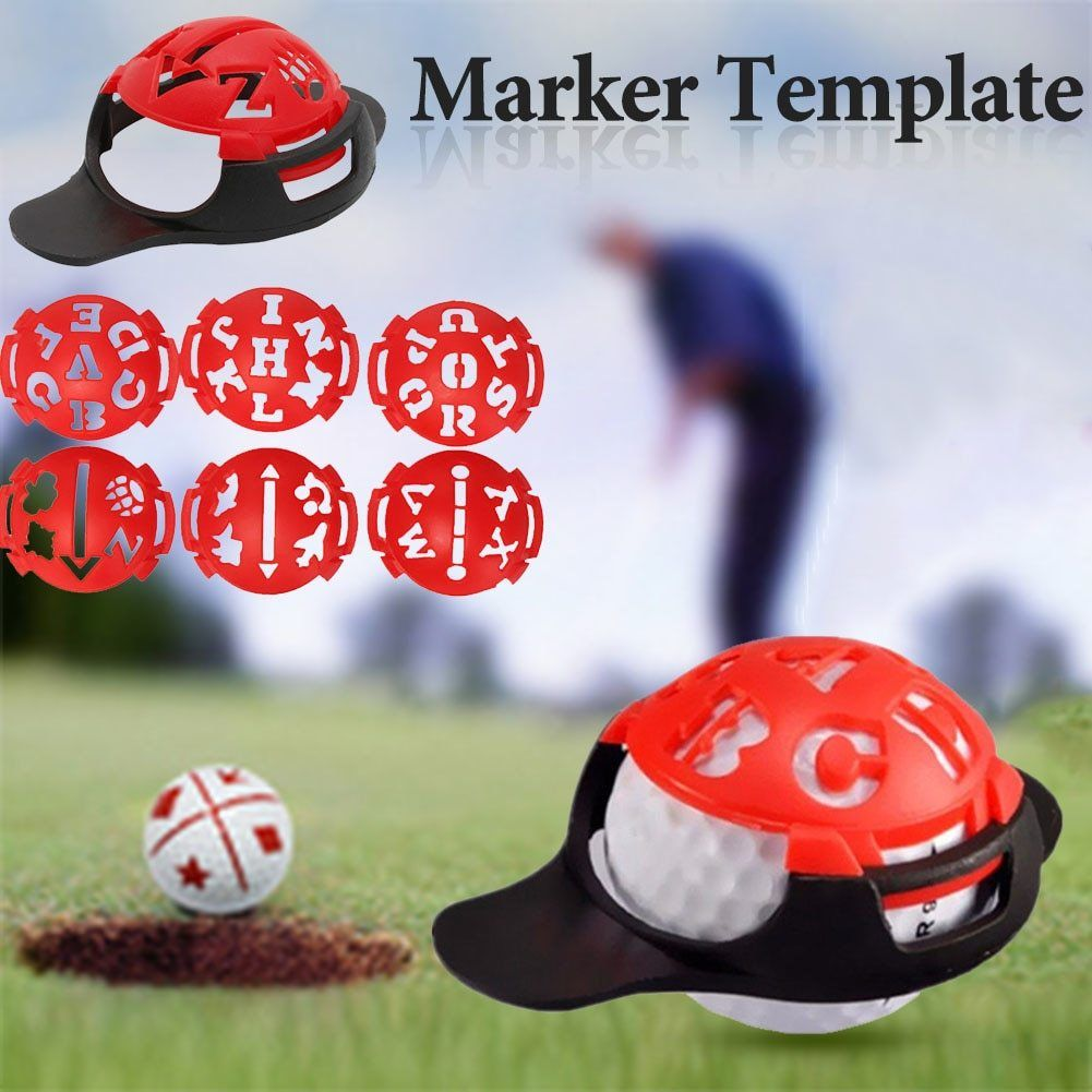6-in-1 Golf Ball Line Liner Marker Template Drawing Alignment Marks