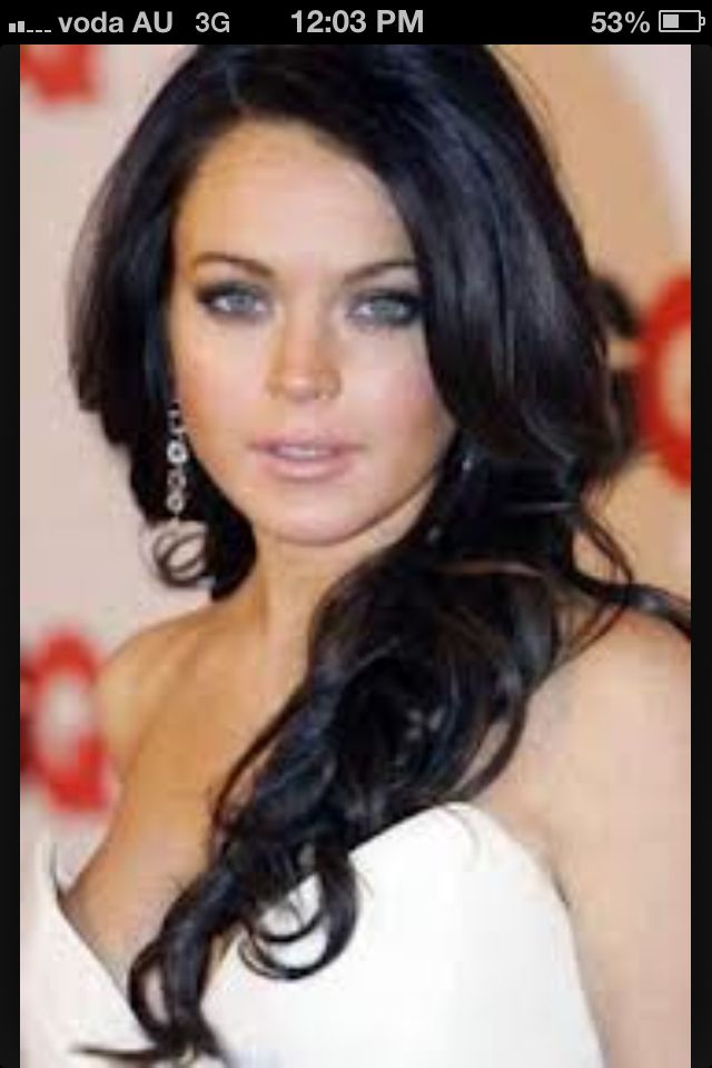 Dark Hair Blue Eyes Lindsay Lohan Hair Dark Hair Light Eyes