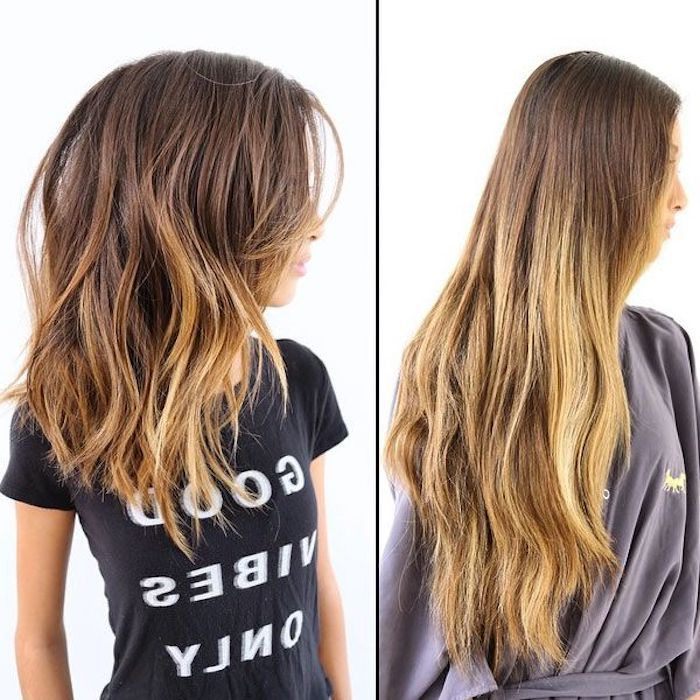 Haare von lang auf mittellang