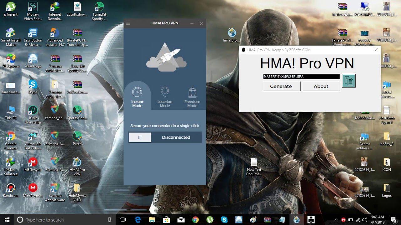 HMA Pro VPN 2018 Latest Key Generator [Updated 7 April]   PC