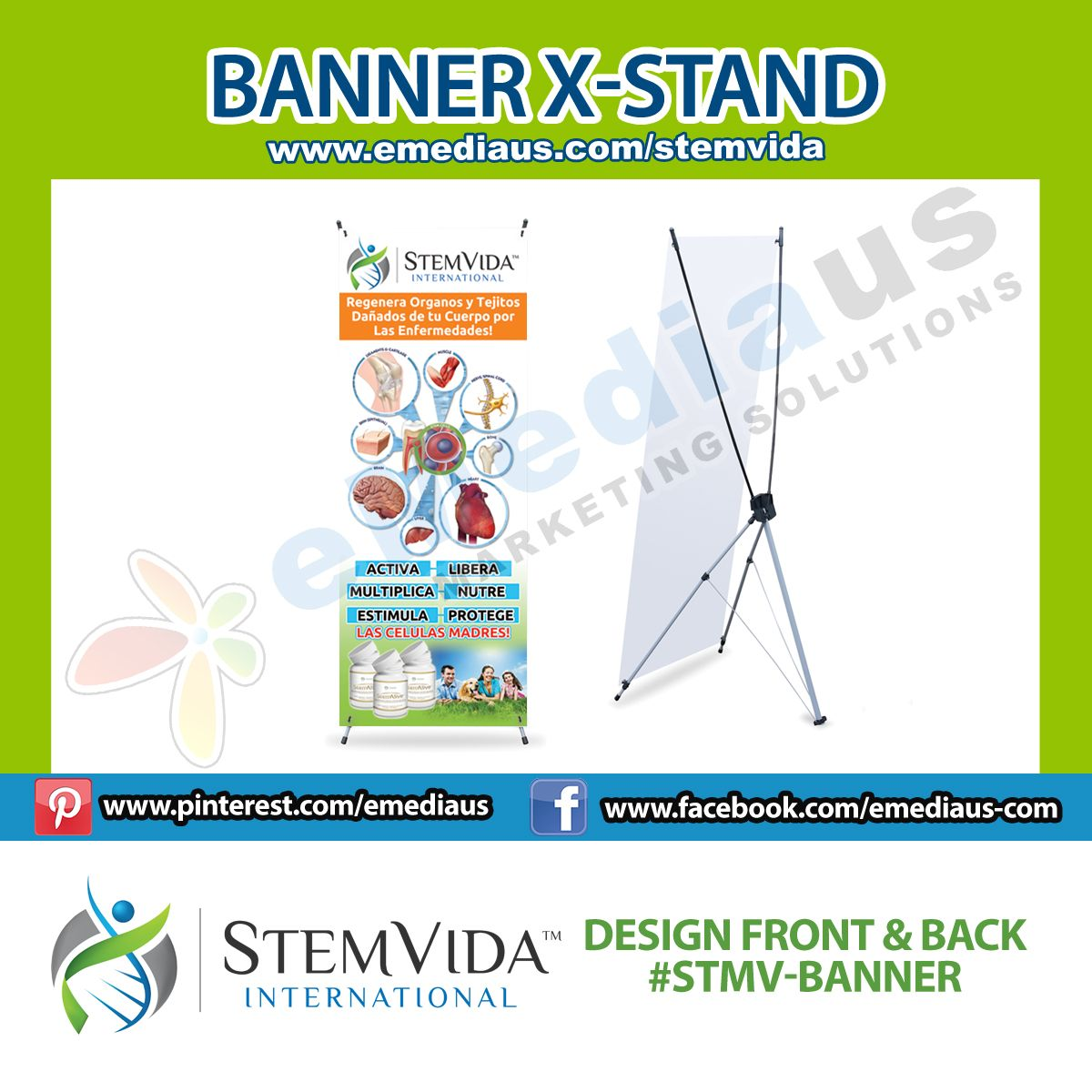 Stem Vida - X-Stand Banner - 24''x63''
