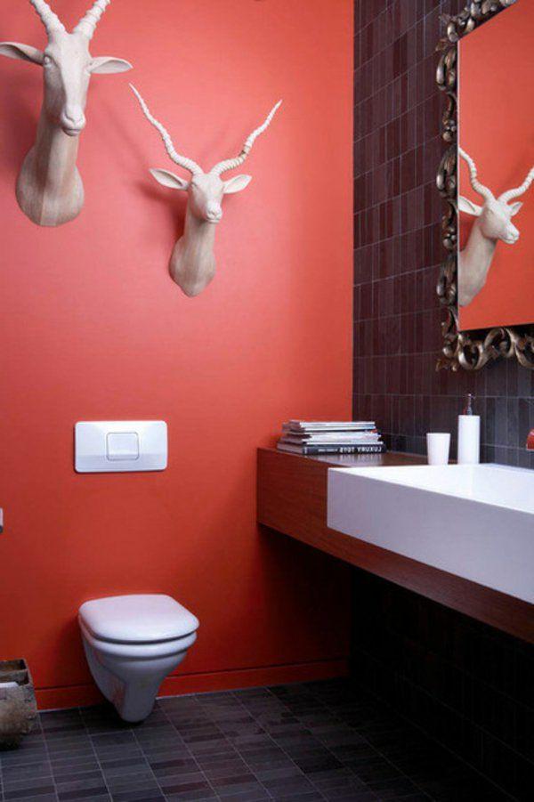 Gestaltung mit Farbe: Wann sollte man Rot im Badezimmer benutzen ...