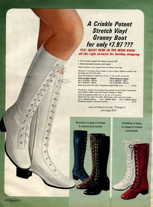 1970s Boots Crinkle Platform Granny In 2020 Granny Boots How To Stretch Boots Boots