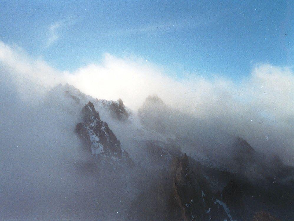 Pico Bolívar desde el Pico Espejo...