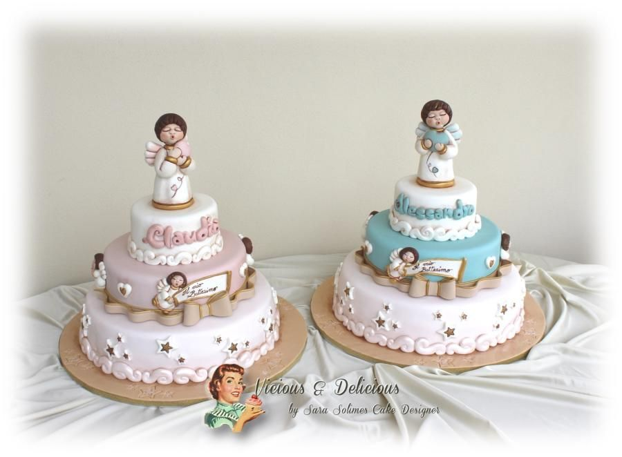 Thun angels cakes - Cake by Vicious & Delicious by Sara Solimes