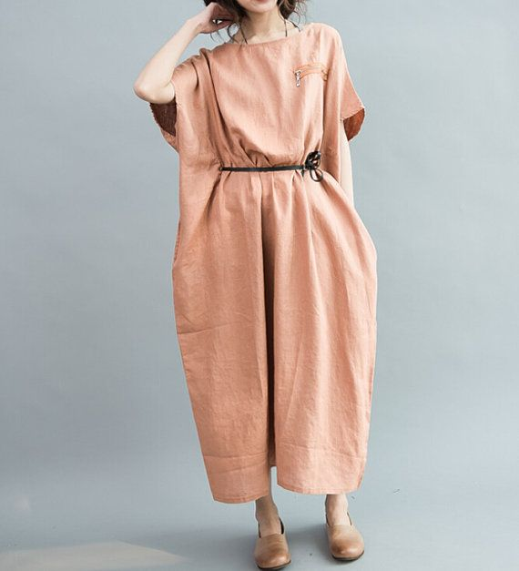 loose maxi dress women oversize dress by malieb on etsy