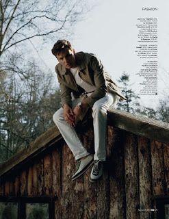 'Beyond the Pines': Editorial por Sean Thomas para GQ UK Agosto 2015 | Male Fashion Trends