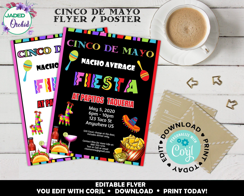 Cinco De Mayo Event Flyer Printable Poster For Business
