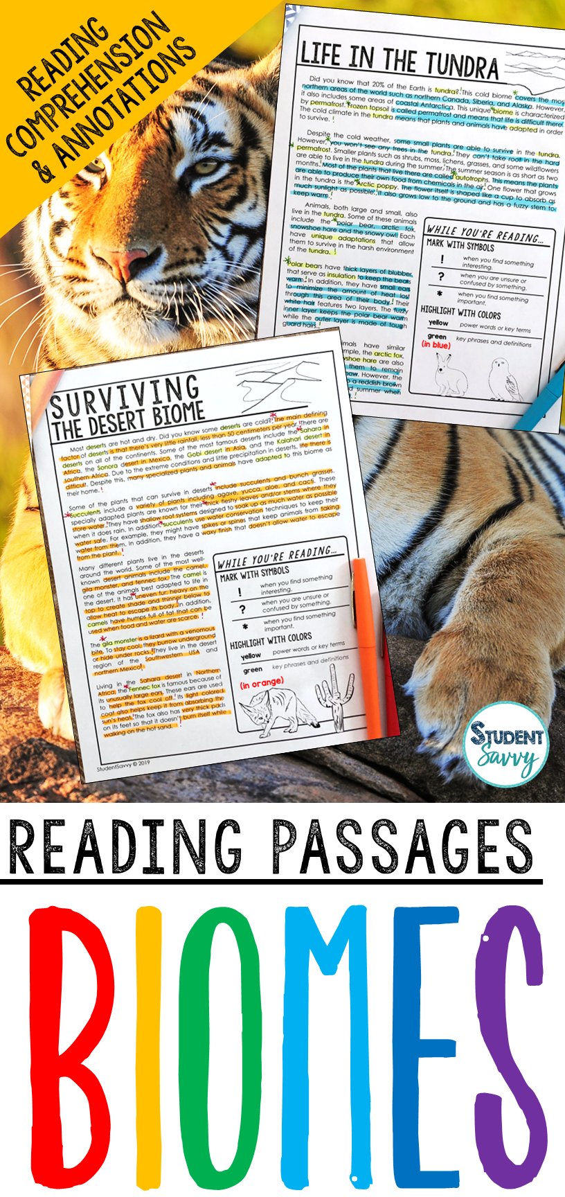 Biomes Reading Passages Reading Passages Reading Comprehension Questions Comprehension Passage [ 1728 x 816 Pixel ]