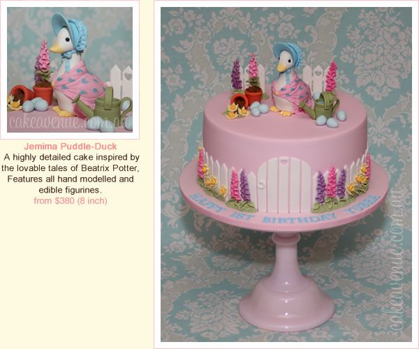 Jemima Puddleduck Edible Icing PRE-CUT Cake Topper Image Decoration