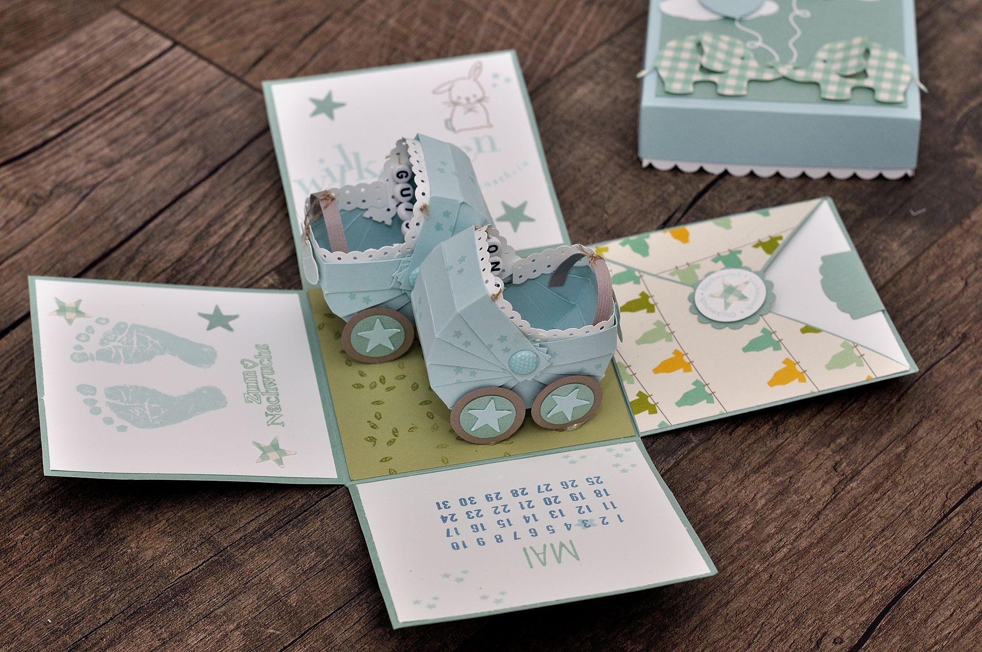 explosionsbox zur geburt von zwillingen eigene karten boxen pinterest. Black Bedroom Furniture Sets. Home Design Ideas