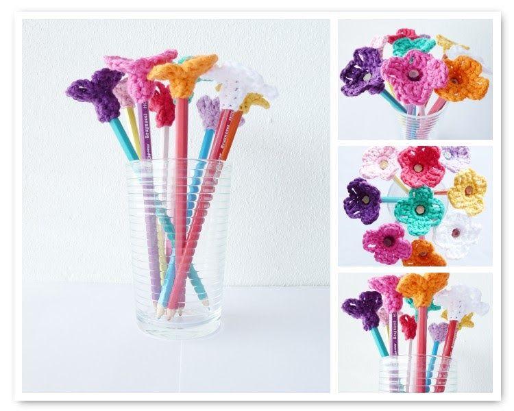 Annemarie\'s Haakblog: Monday pattern day: Pencil Flowers! ~ FREE ...
