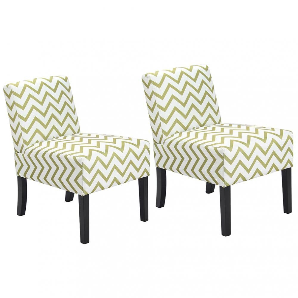 Best Set Of 2 Wave Fabric Accent Chair Dining Side Sofa Chairs 400 x 300