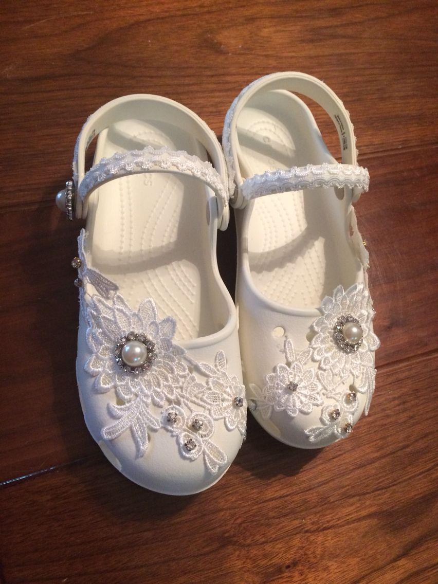 42f6664fb25e Crocs wedding shoes flats comfortable DIY