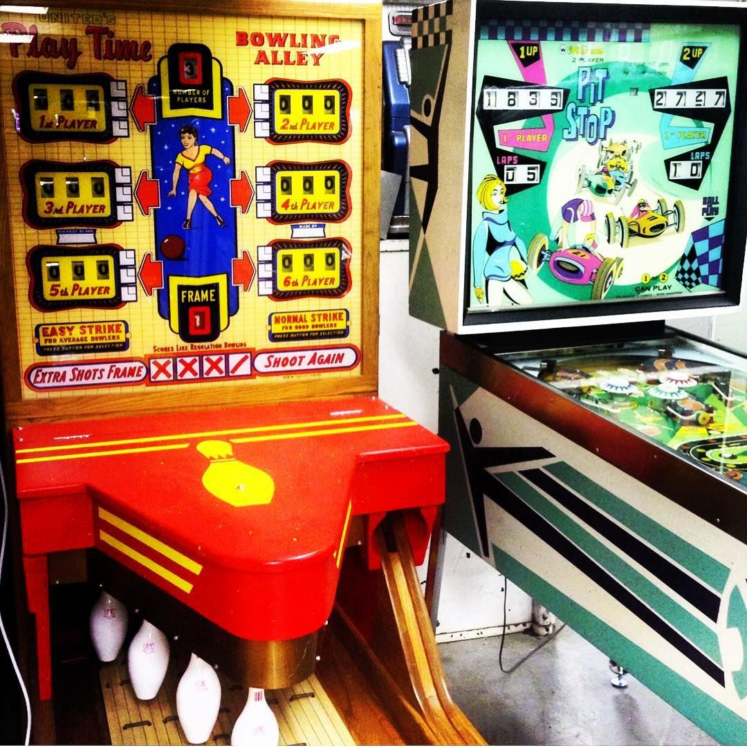 Double Trouble Play Time Bowling Alley And Pit Stop Pinball Next