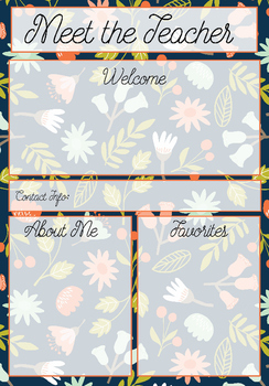 free meet the teacher information templates