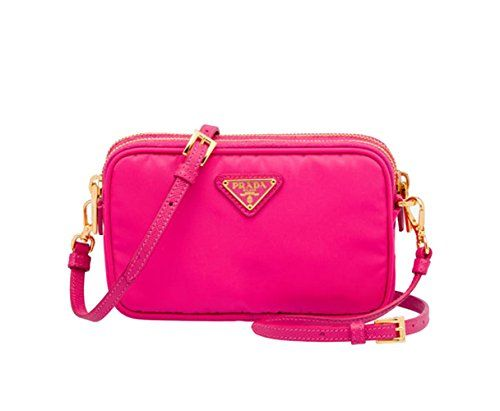 Prada 1n1861 Tessuto Nylon And Leather Crossbody Bag Fuschia Hot Pink Find Out More About The Great Product At Image Link Note It Is Affiliate