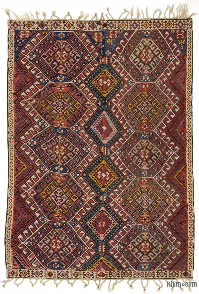Multicolor Vintage Van Kilim Rug In 2018 Antique Carpet Rug Kilim
