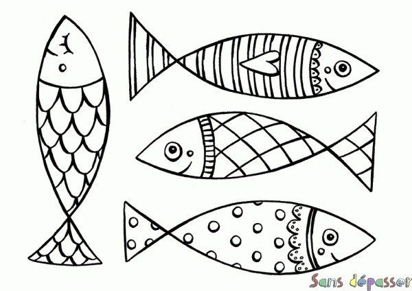 Poisson D'avril A Imprimer Coloriage in 2020 (With images